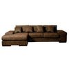 BH Design Brown 2-Piece Sectional Sofa