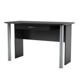South Shore Furniture City Life Pure Black Writing Desk