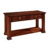 Somerton Home Furnishings Villa Madrid Walnut Oak Rectangular Console and Sofa Table