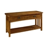 Somerton Home Furnishings Craftsman Primavera Oak Rectangular Console and Sofa Table