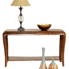 Somerton Home Furnishings Marin Warm Brown Mahogany Rectangular Console and Sofa Table