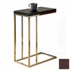 Monarch Specialties Chrome Composite Rectangular End Table