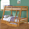 Monarch Specialties Medium Oak Bunk Bed