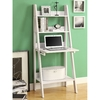 Monarch Specialties White 25.5-in W x 61-in H x 18.75-in D 3-Shelf Bookcase