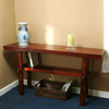TMS Furniture Koreana Dark Walnut Pine Rectangular Console and Sofa Table