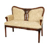 Oriental Furniture Classic European Medium Brown Stain Stationary Loveseat