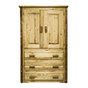Montana Woodworks Glacier Country Stained and Lacquered Armoire
