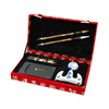 Oriental Furniture Red Calligraphy Statue Set