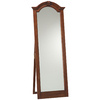 Cooper Classics Traditional Cheval 24.5-in x 68-in Lodge Brown Cherry Beveled Arch Framed Floor Mirror
