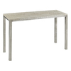 Cooper Classics Dade Silver Metal with A White Wash Wood Top Rectangular Console and Sofa Table