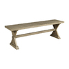 Cooper Classics Crofton White Wash 60-in Dining Bench