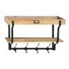 Woodland Imports 26-in W x 17-in H x 9-in D Wood Wall Mounted Shelving