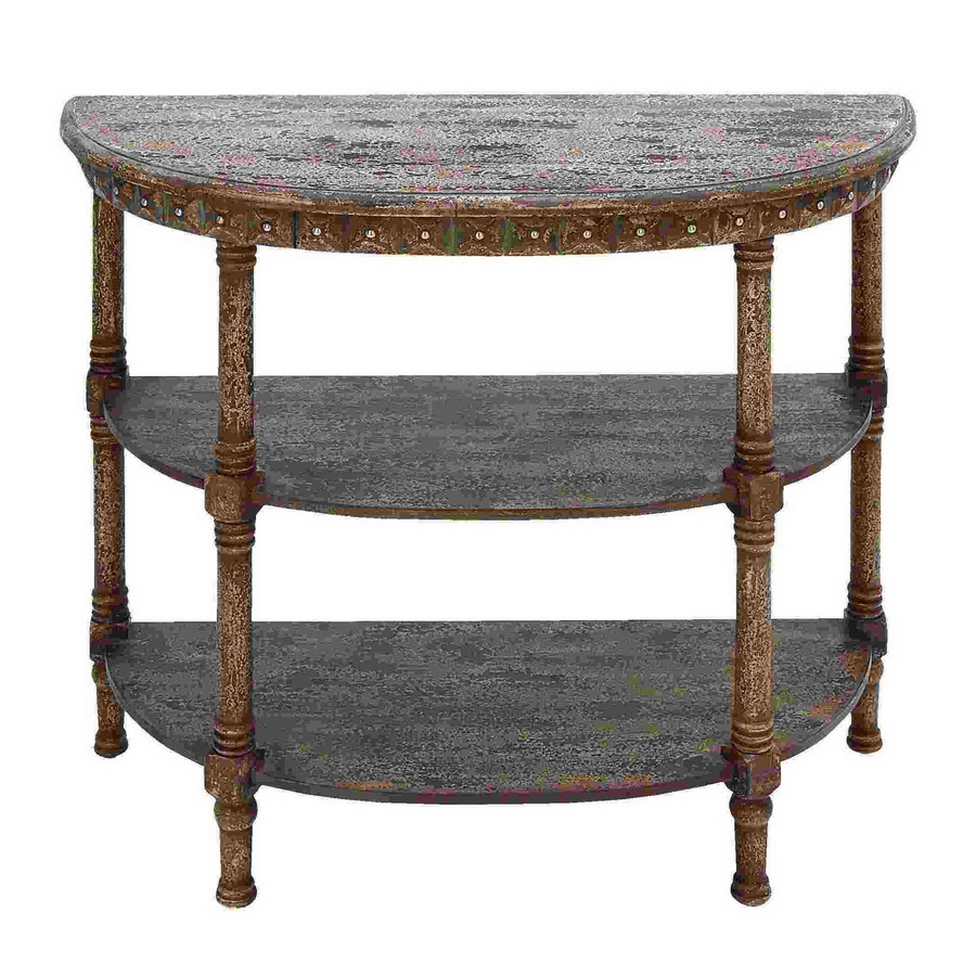 Shop Woodland Imports Half Round Console And Sofa Table At