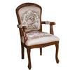 Design Toscano Set of 2 La Danse Du Printemps Fauteuil Ivory Accent Chairs