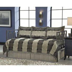 Leggett & Platt Skyline 5-Piece Black Twin Comforter Set