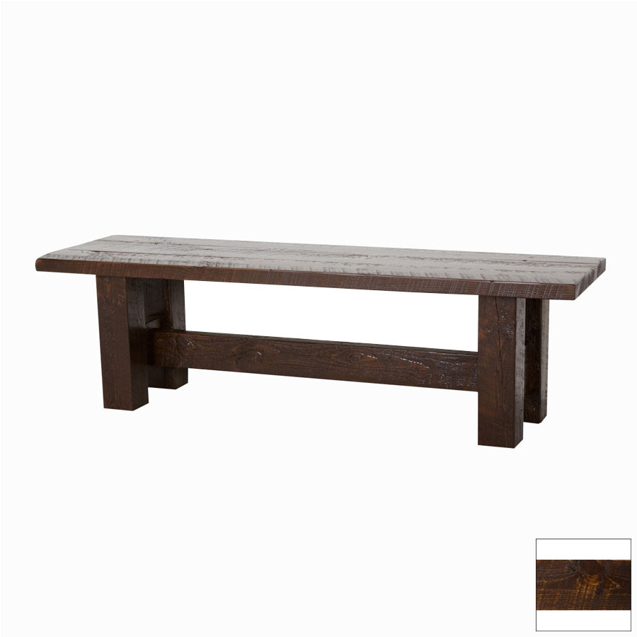 Shop Viking Industries Barnwood Dark 60 In Dining Bench At