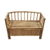 Bamboo 54 Bamboo Indoor Entryway Bench with Storage