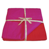 KOKO Company Elements Red and Fuchsia King Cotton Duvet Cover