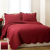 PEM America Outlet French Tile Red Full and Queen Cotton Quilt