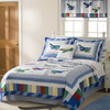 PEM America Outlet Fly Away 1-Piece Multicolor Twin Quilt Set
