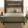 PEM America Outlet Barclay 3-Piece Sage and Tan King Quilt Set