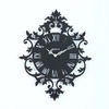 Maple's Roman Numeral Silhouette Black Wall Clock