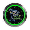 Neonetics Standard/Arabic Numeral Pool Shark Neon Chrome Clock