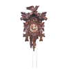 Alexander Taron Roman Numeral Carved Cuckoo Brown Wall Clock