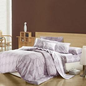 North Home Bedding Lily 4-Piece Purple Queen Duvet Set