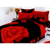 Le Vele Night Rose 4-Piece Multicolor Twin Duvet Set