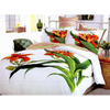 Le Vele Tiger Lily 6-Piece White Full/Queen Duvet Set