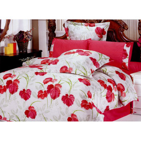 Le Vele Lucia 6-Piece Pink Full/Queen Duvet Set