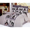 Le Vele Cities 6-Piece Grey Full/Queen Duvet Set