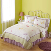 My World Dragonfly Butterfly 3-Piece White Full/Queen Quilt Set