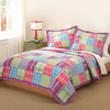 My World Kelsey Pink 3-Piece Multicolor King Quilt Set
