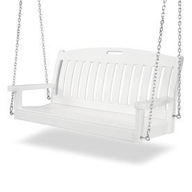 POLYWOOD Nautical White Porch Swing