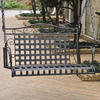 International Caravan Mandalay Black/Silver Iron Porch Swing