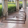 International Caravan Sun Ray Hammered Bronze Iron Porch Swing