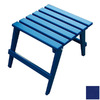Prairie Leisure Design Junior 21-in x 15-in Berry Blue Wood Rectangle Patio Side Table