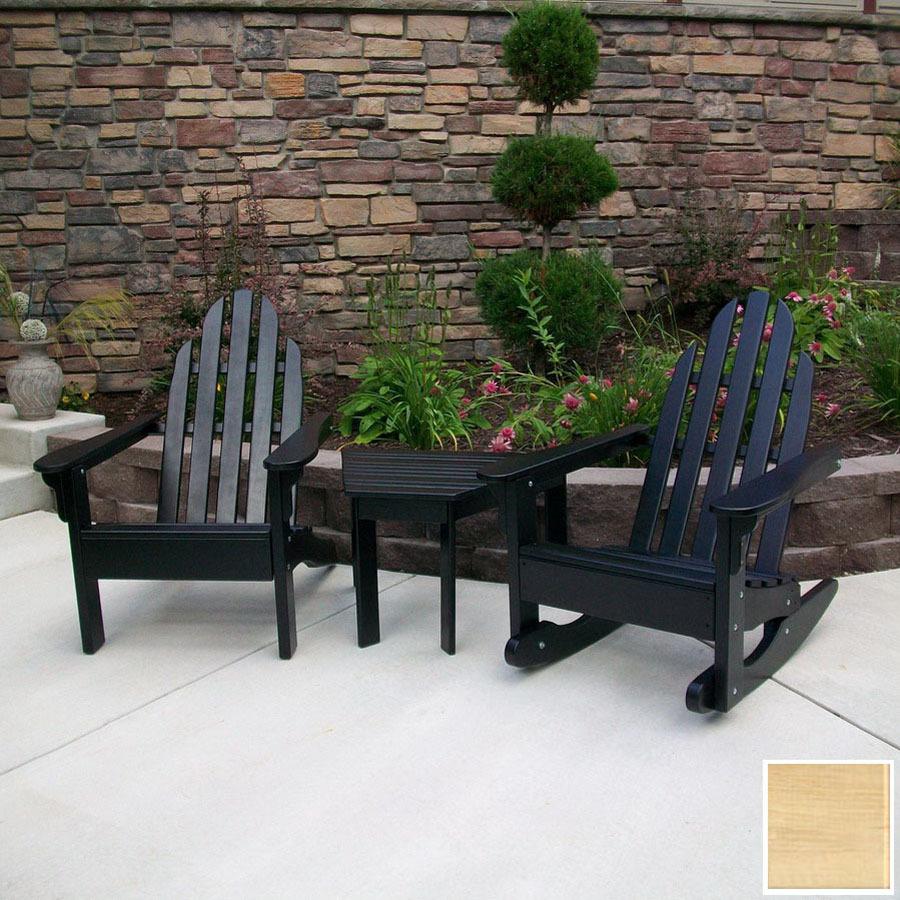 Shop prairie leisure design 3 piece wood patio for Patio conversation sets