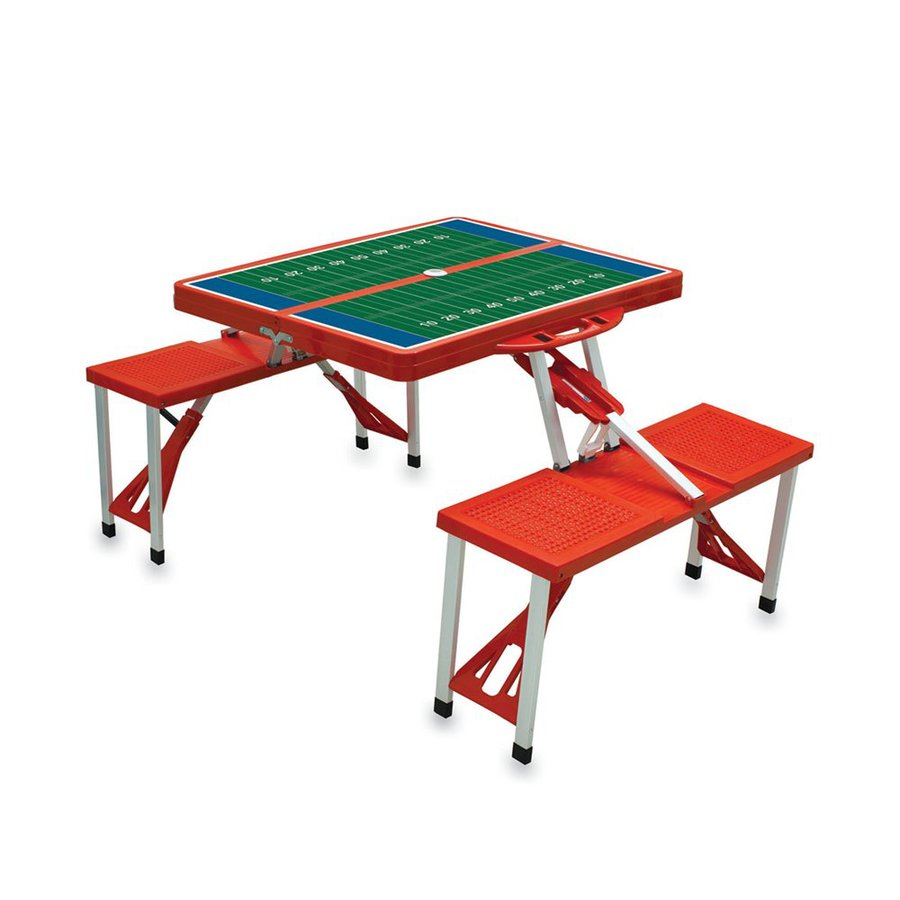 Plastic Picnic Table : ... picnic time 4 ft 6 in red pink plastic rectangle folding picnic table
