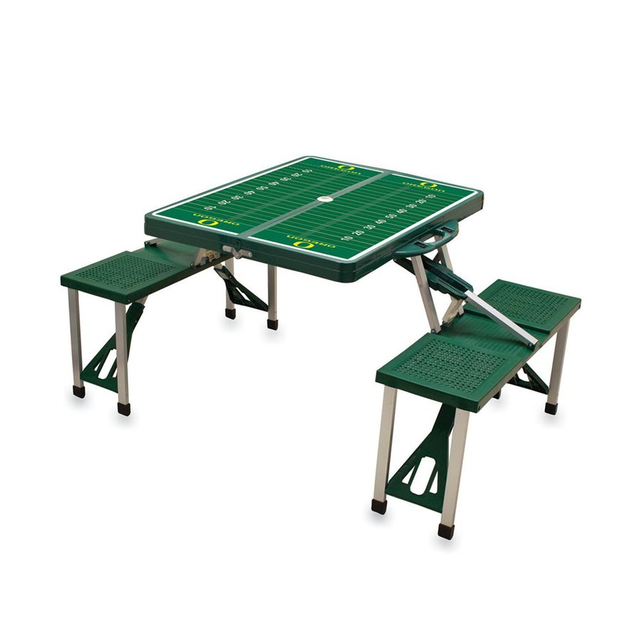 Plastic Picnic Table : ... 54 in green oregon ducks plastic rectangle collapsible picnic table