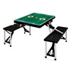 Picnic Time 34-in Black Miami Dolphins Plastic Rectangle Collapsible Picnic Table