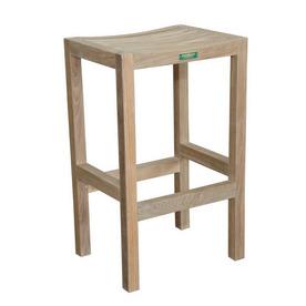 Anderson Teak Montego Slat Seat Teak Patio Bar-Height Chair