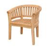 Anderson Teak Curve Natural Slat Seat Teak Patio Dining Chair