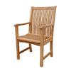 Anderson Teak Chicago Natural Slat Seat Teak Patio Dining Chair