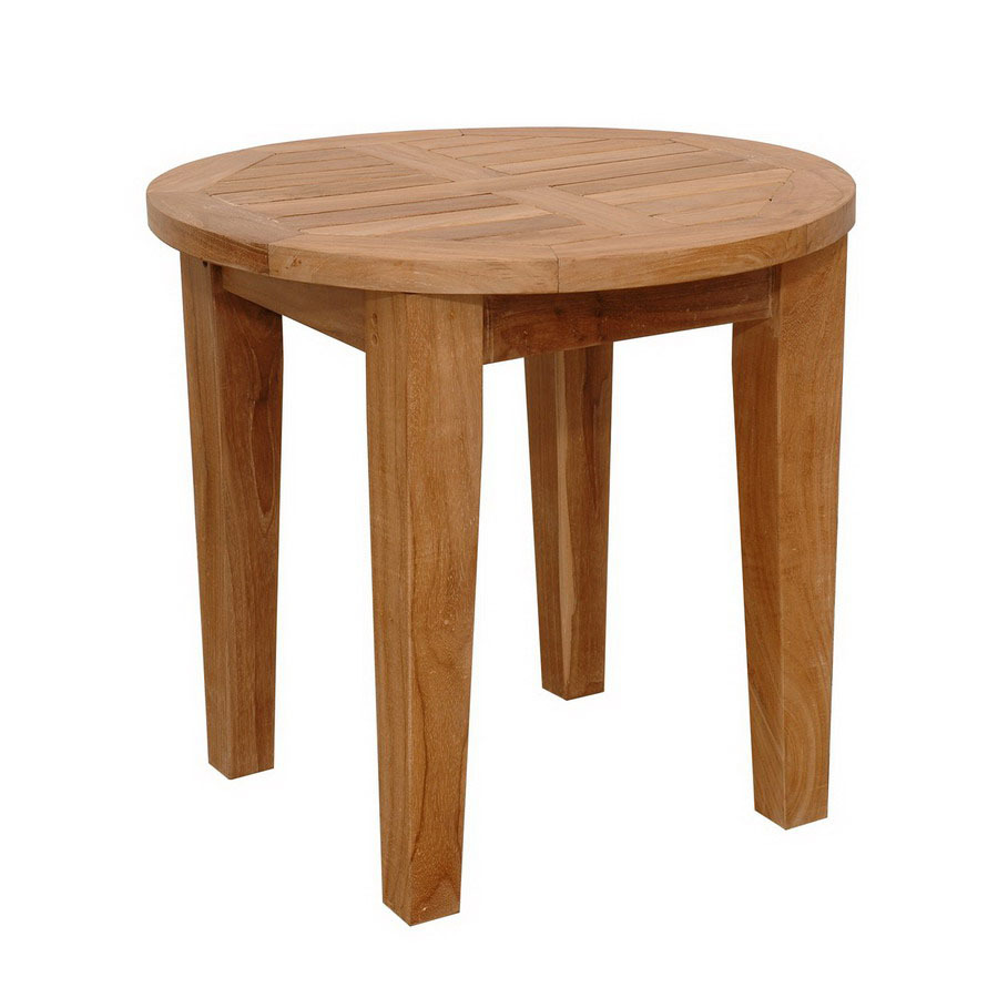 shop anderson teak brianna 20 in x 20 in natural wood round patio end table at. Black Bedroom Furniture Sets. Home Design Ideas