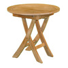 Jewels of Java 19-in x 19-in Teak Round Patio Side Table