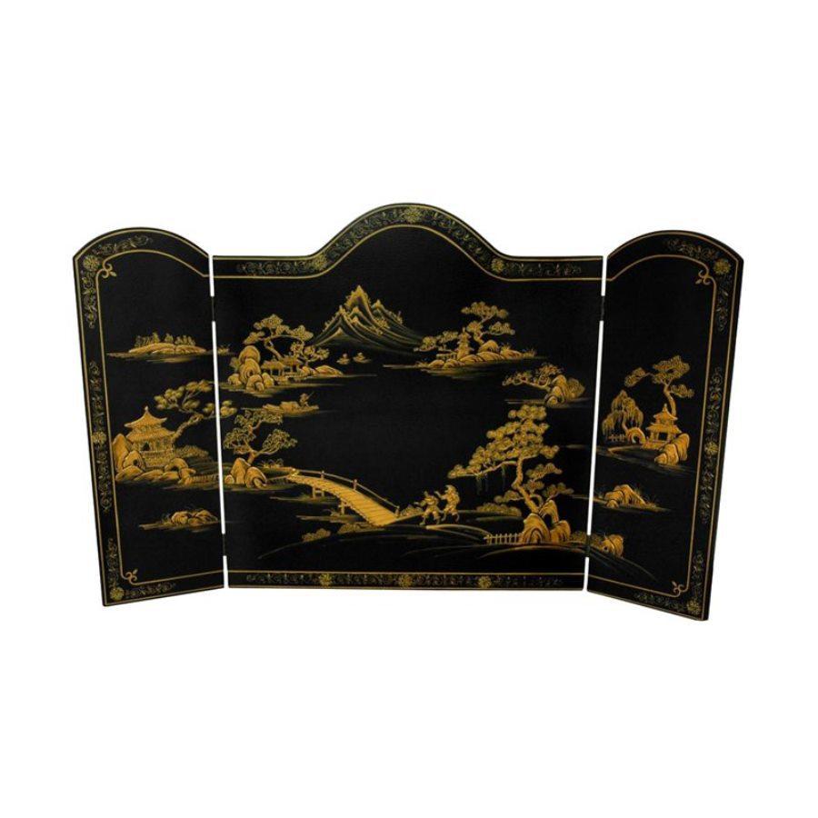 furniture 54 in black 3 panel craftsman fireplace screen at