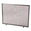 Stone County Ironworks 38-in Natural Black Iron Flat Fireplace Screen